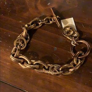 NWT Michael Kors logo toggle bracelet